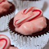 Peppermint Chocolate Souffle Cupcakes