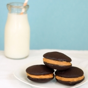 Salted Caramel and Chocolate Whoopie Pies