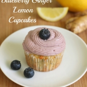 Blueberry Ginger Lemon Cupcakes