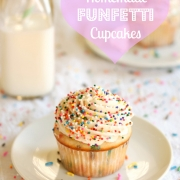 Homemade Funfetti Cupcakes & 3rd Blog Birthday