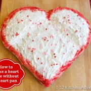How to Make a Heart Cake (without a Heart Shaped Pan!)