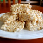 Rice Krispies Treats with Homemade Marshmallow