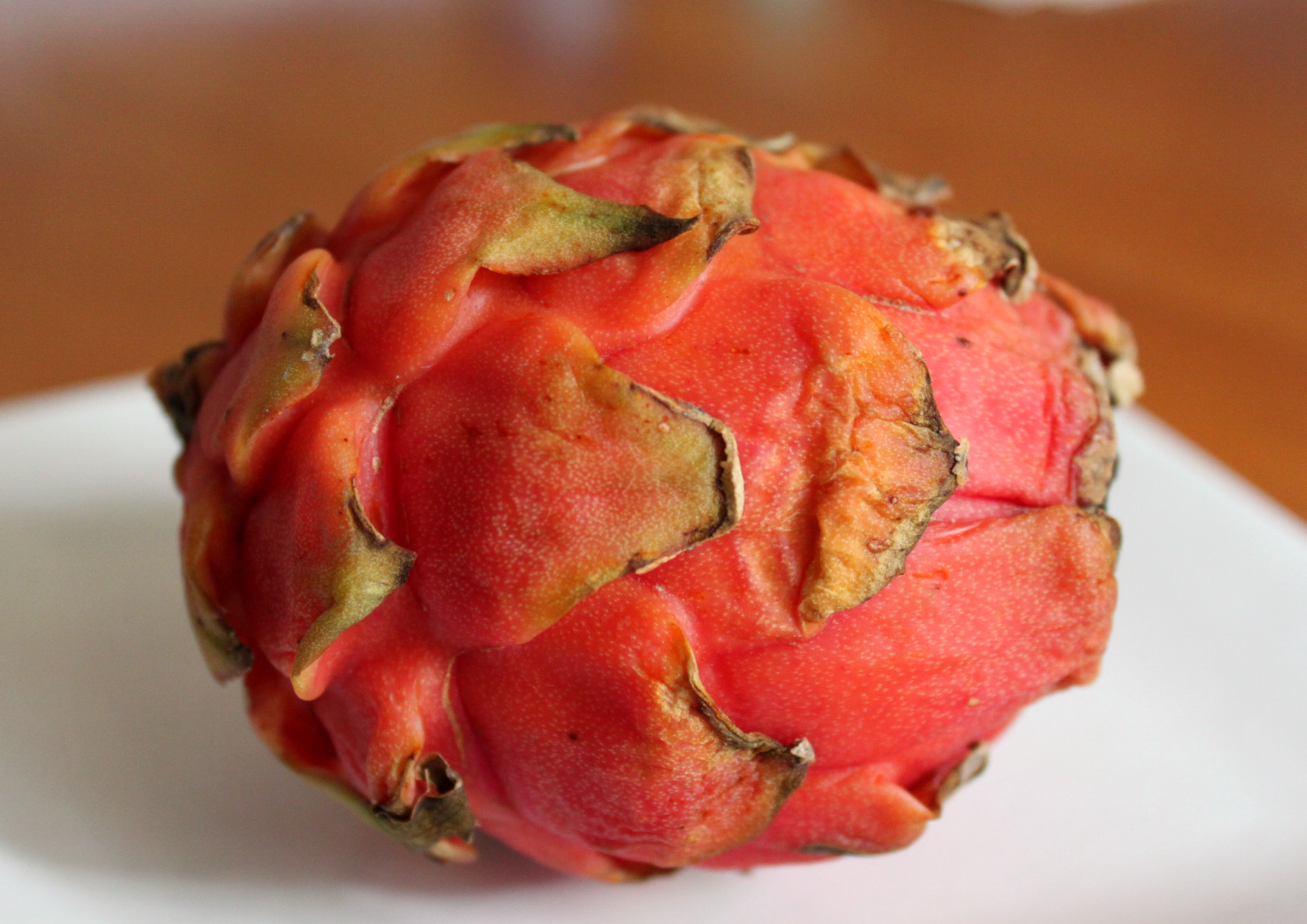 Dragon fruit comes in three colors white pink and red or magenta white - Inside The Inedible Outer Skin You Will Find Either White Or Magenta