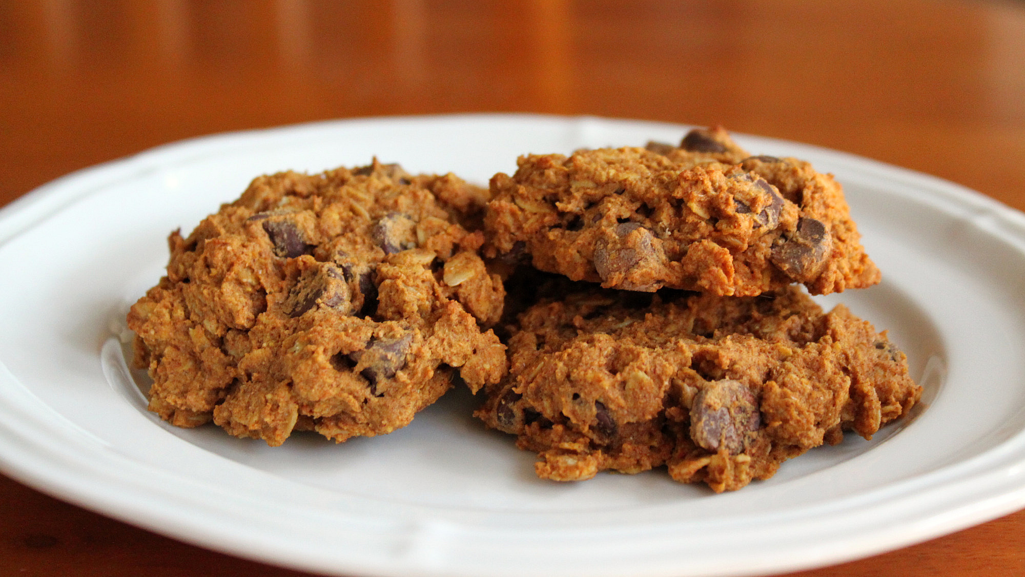 Pumpkin Oatmeal Cookies sweetened with agave nectar