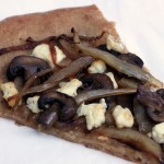 Goat Cheese, Caramelized Onion and Mushroom Pizza