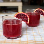 Homemade Sparkling Blood Orange Juice
