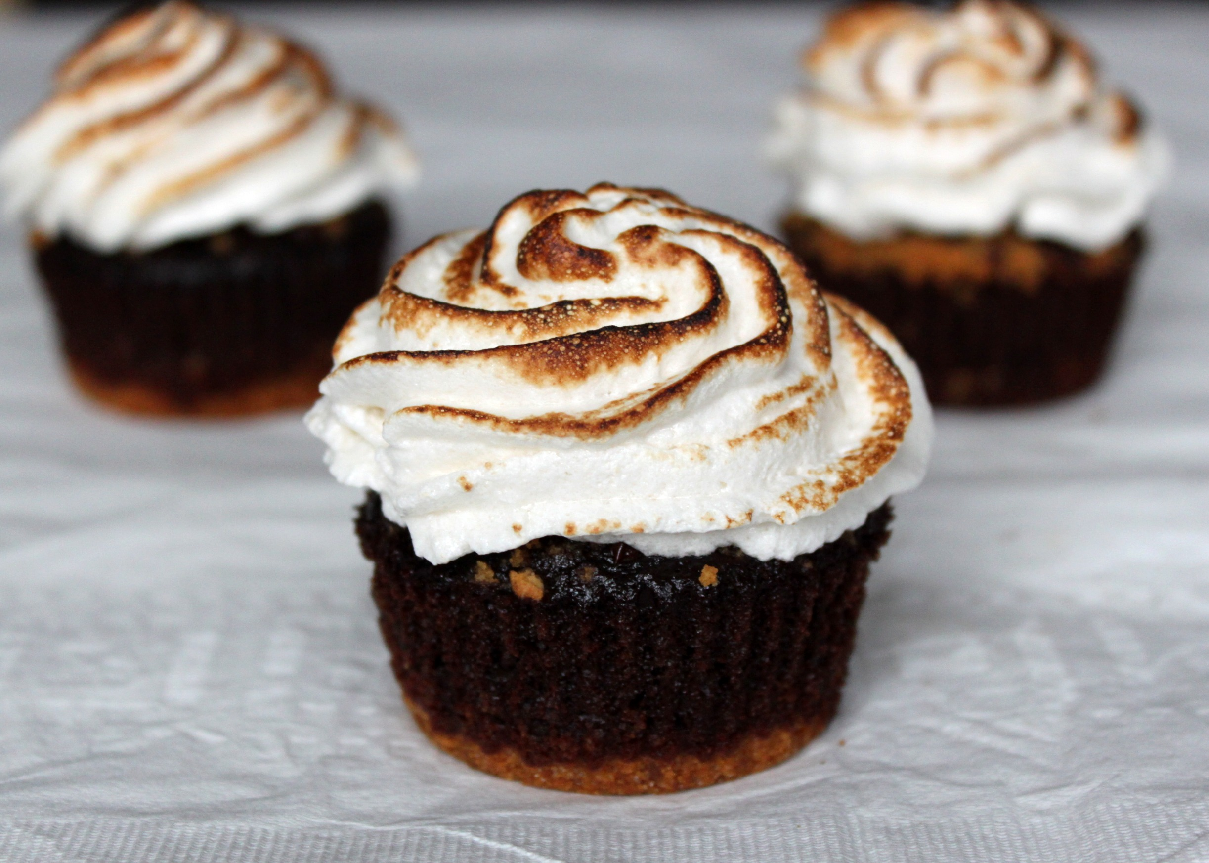 S'mores cupcakes close up 2