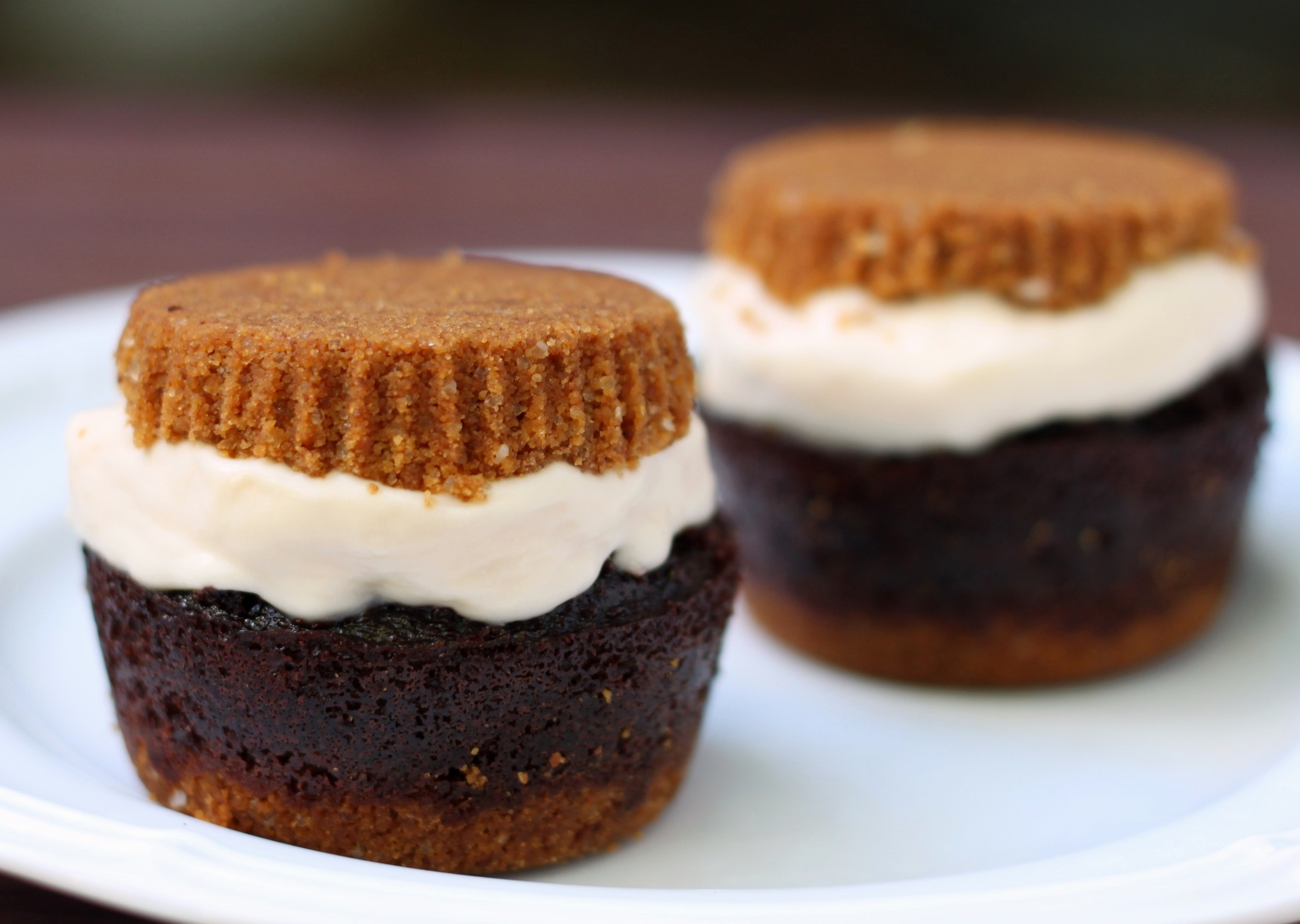 S'mores ice cream cupcakes