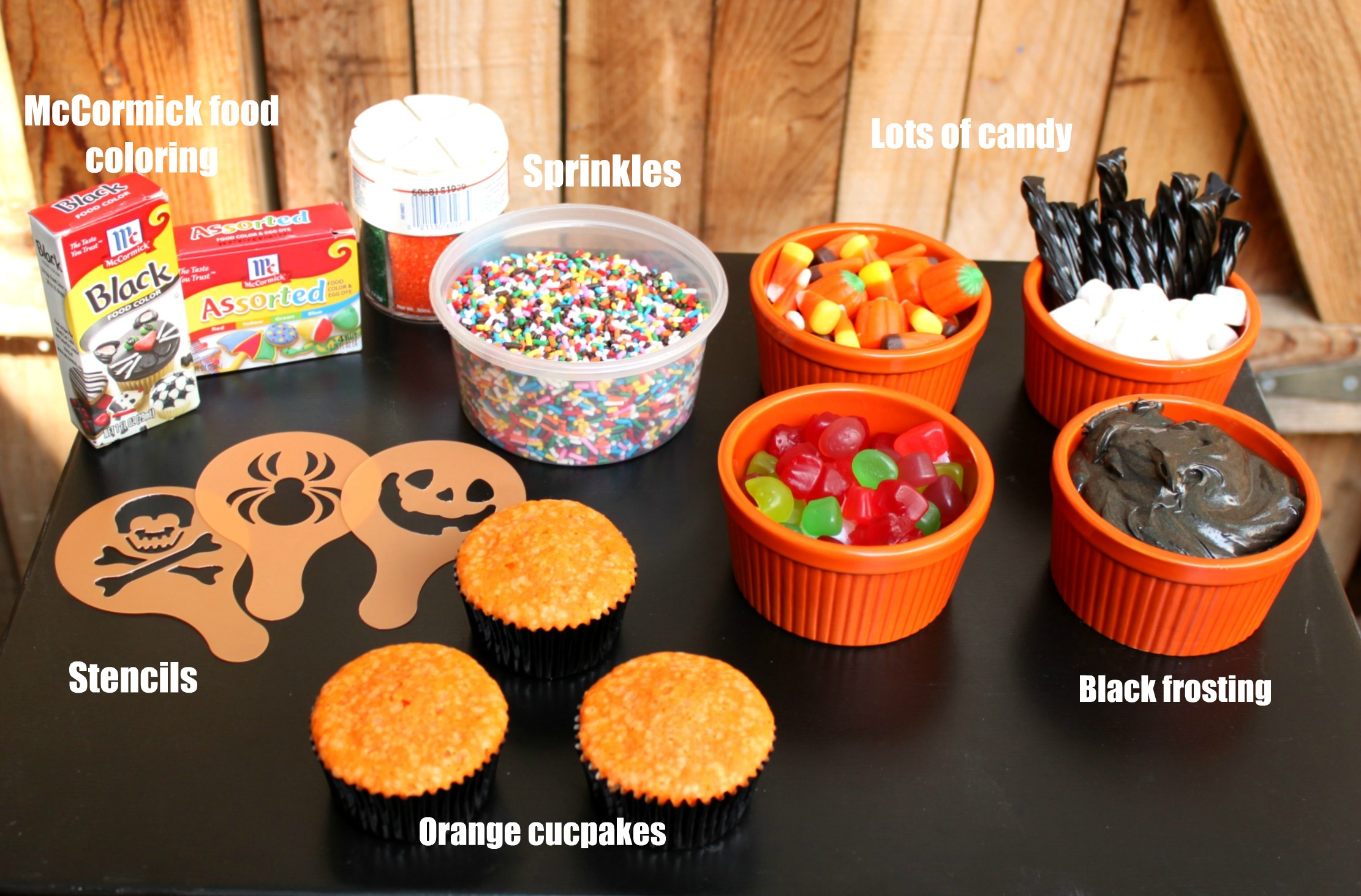 what - Halloween Decorations Cupcakes