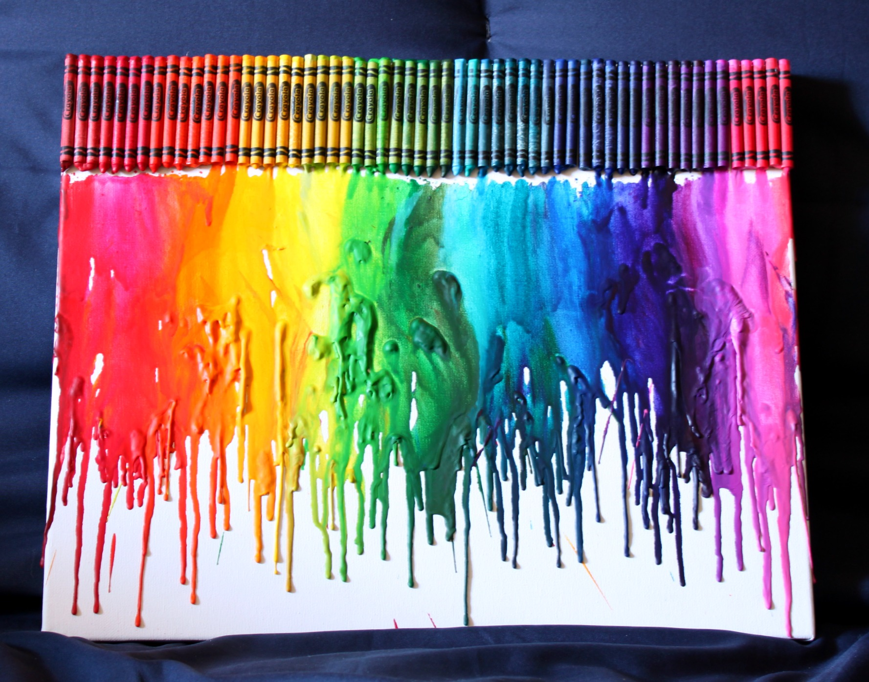 girlz of god melted crayon art tutorial