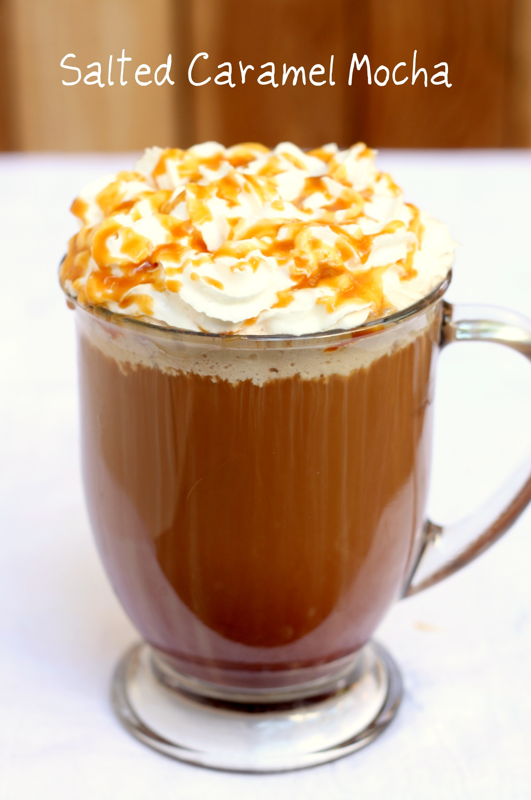 Homemade Salted Caramel Mocha
