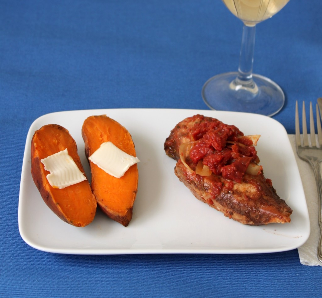 Slow Cooker Monday: Balsamic chicken and baked yams