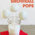 Peppermint Chocolate Snowball Pops
