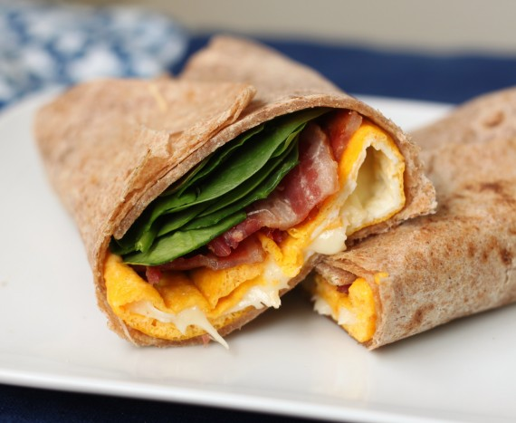 Recipe: Two minute egg and cheese wrap