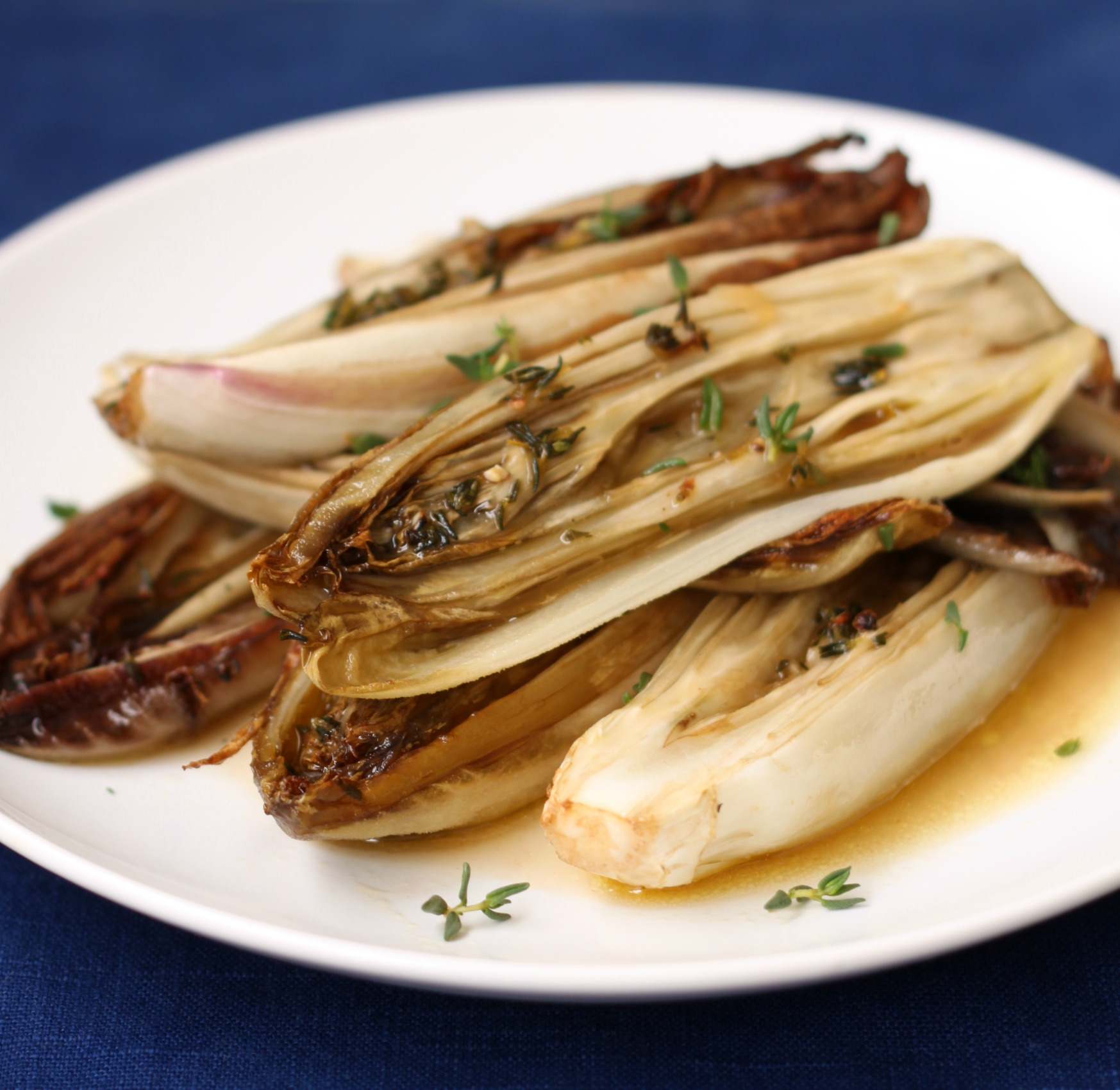 Honey thyme roasted endives