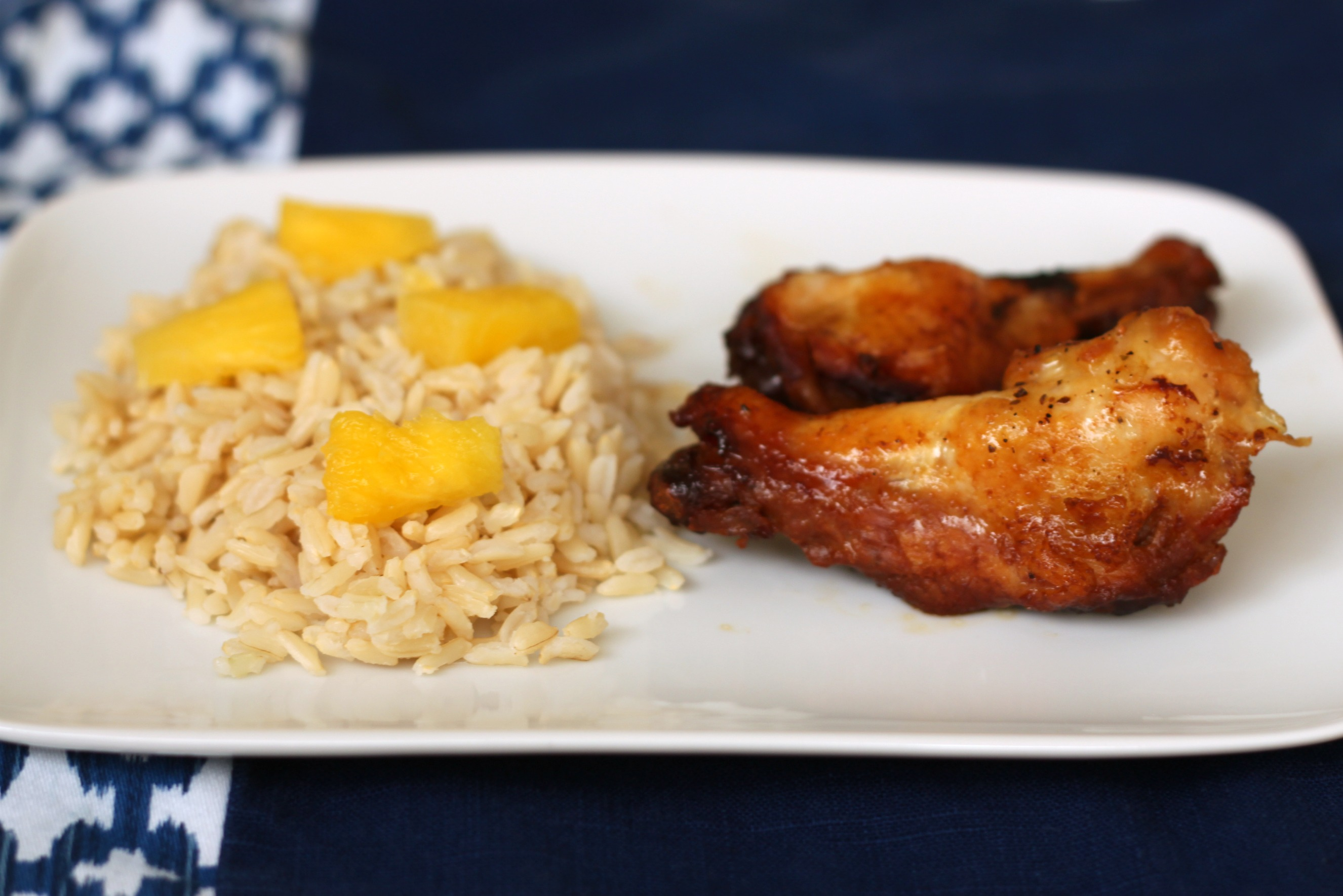 Pineapple soy chicken drummettes 3