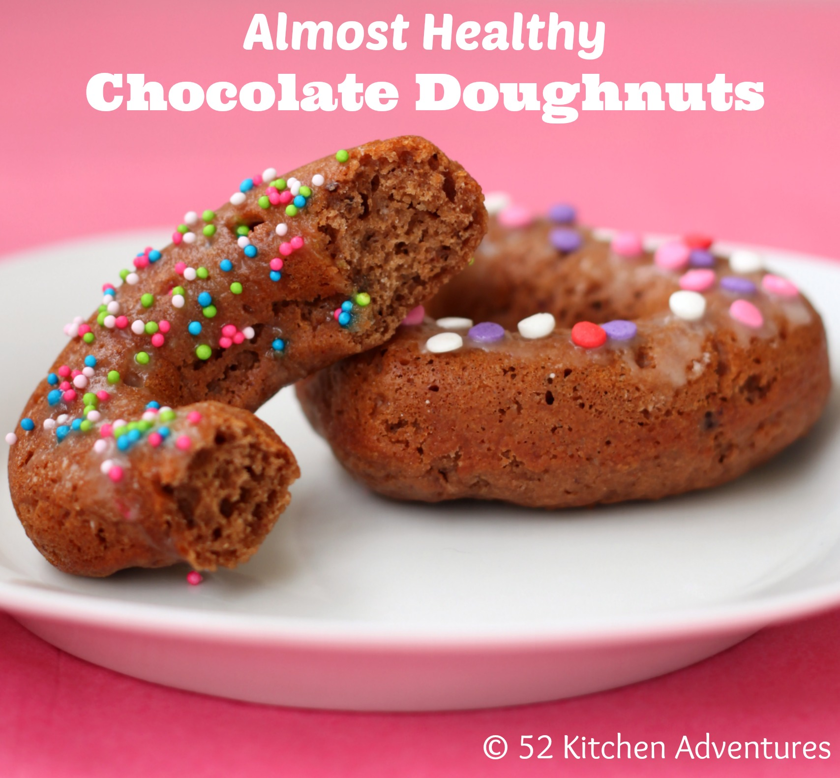 Almost Healthy Chocolate Doughnuts