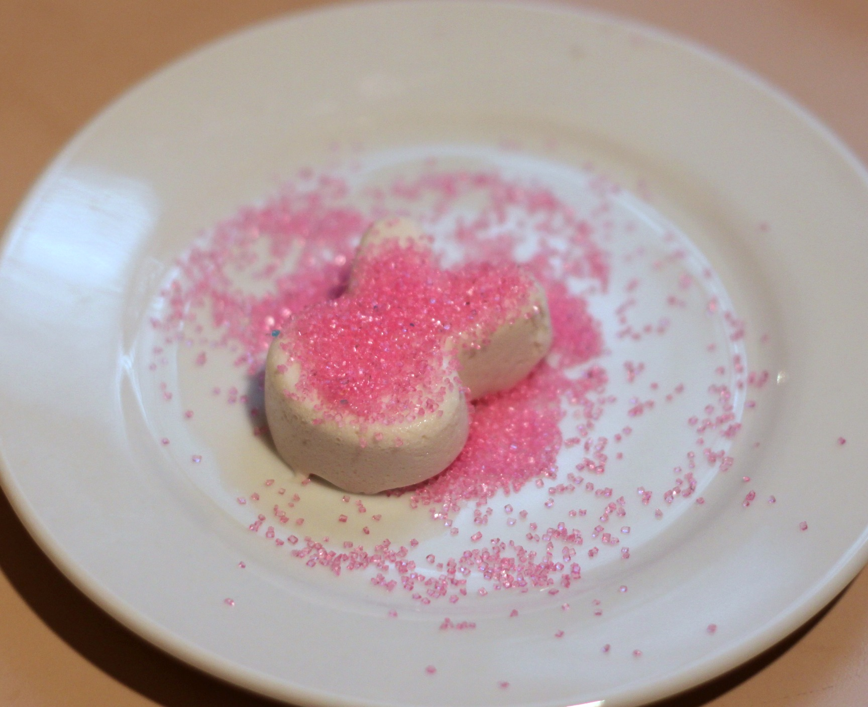 Coat homemade marshmallow in colored sugar