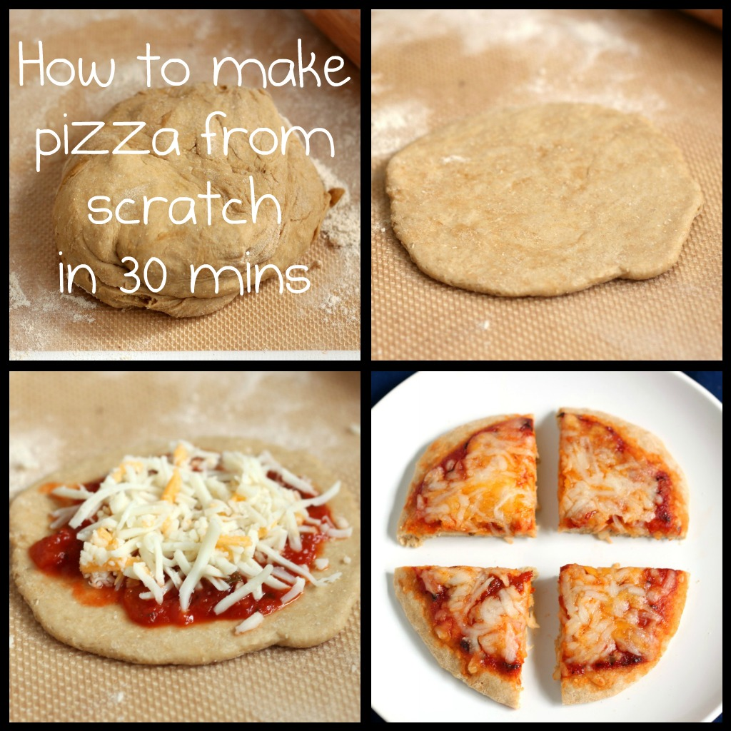 Recipe: Quick and healthy pizza from scratch