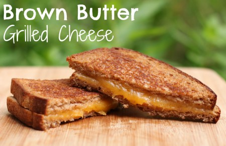 Brown butter grilled cheese