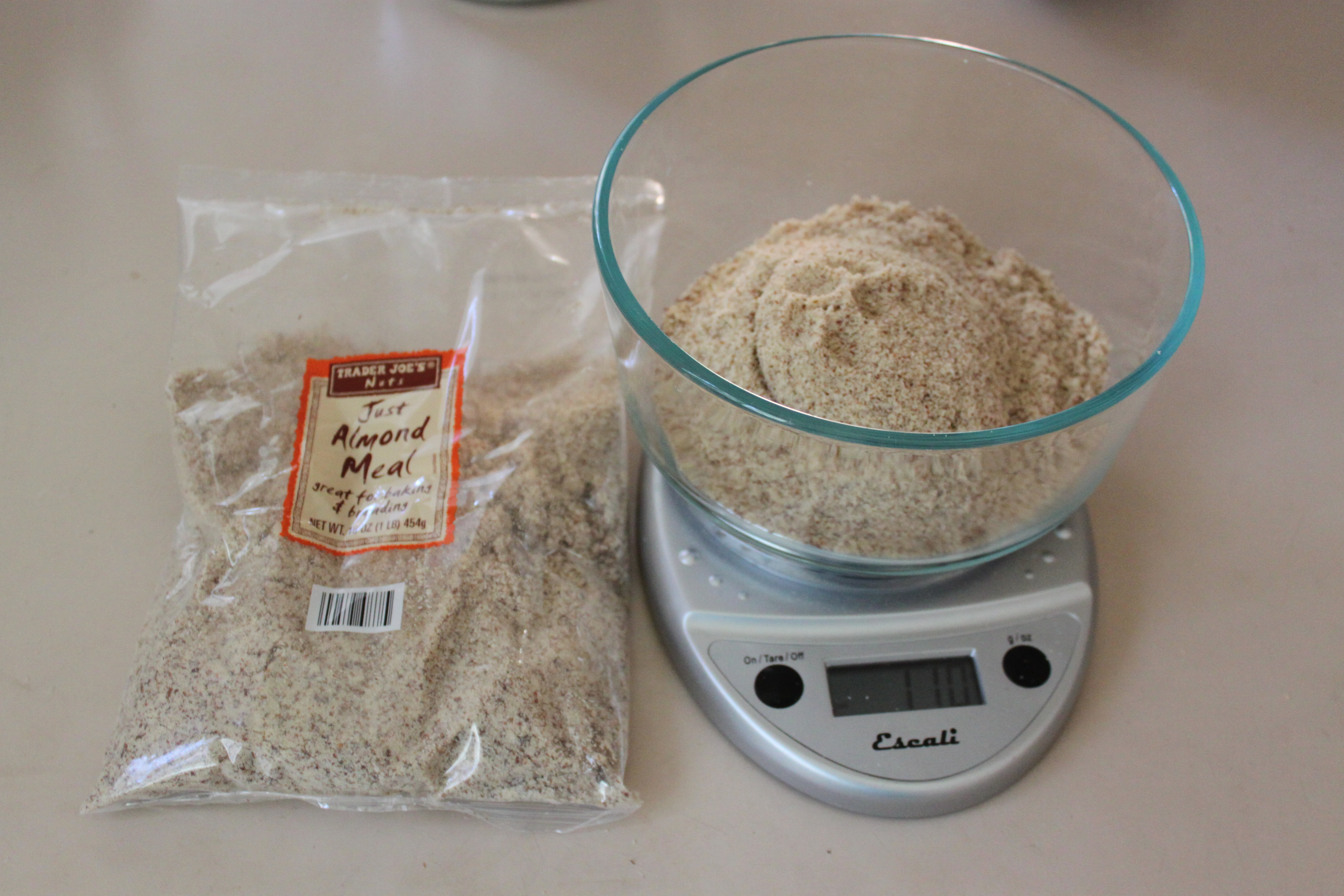 Weigh almond meal