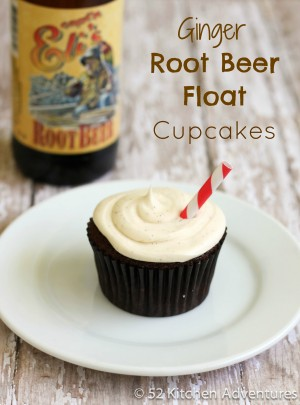Ginger Root Beer Float Cupcakes