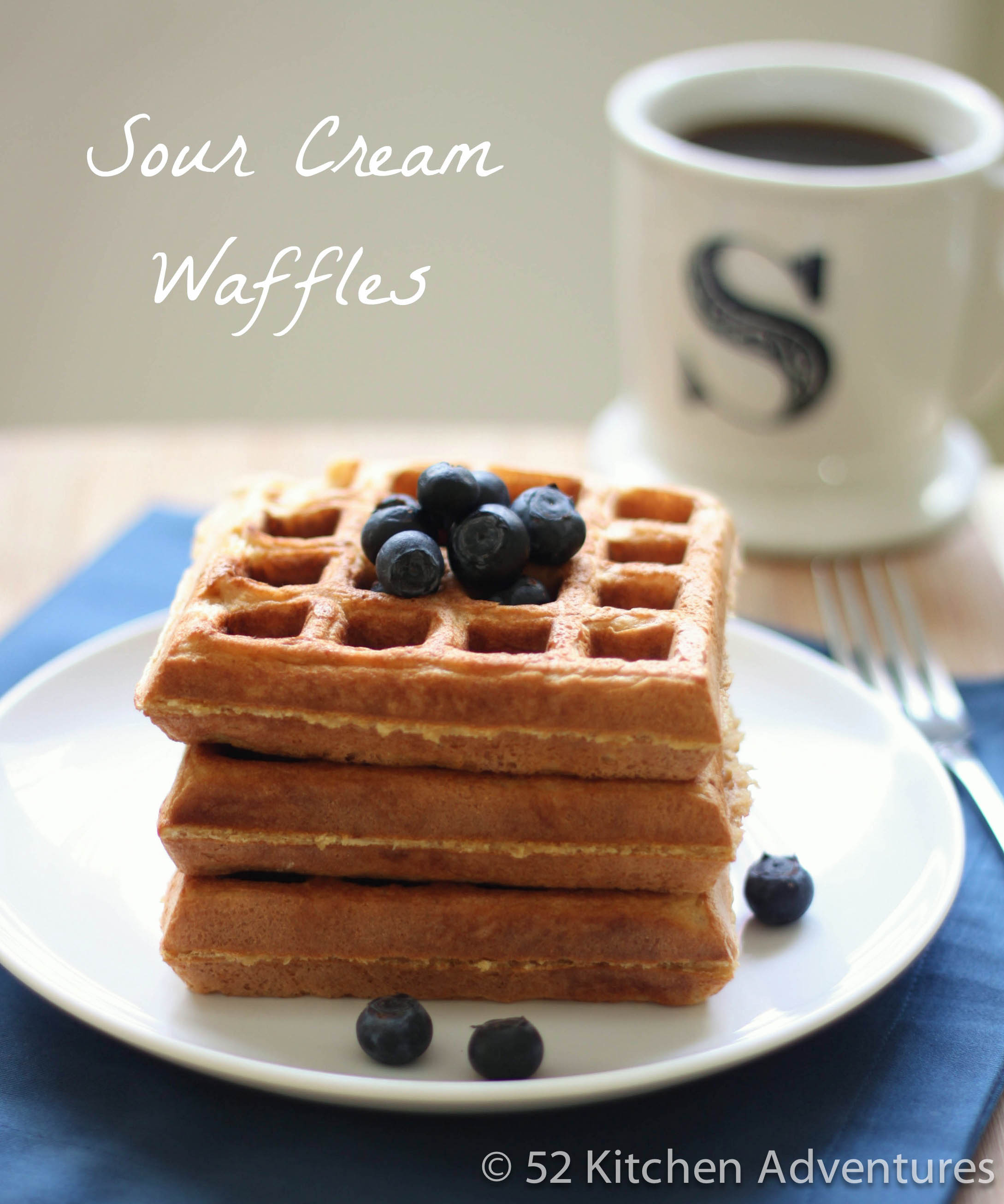Recipe: Sour cream waffles