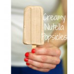 Creamy Nutella Popsicles