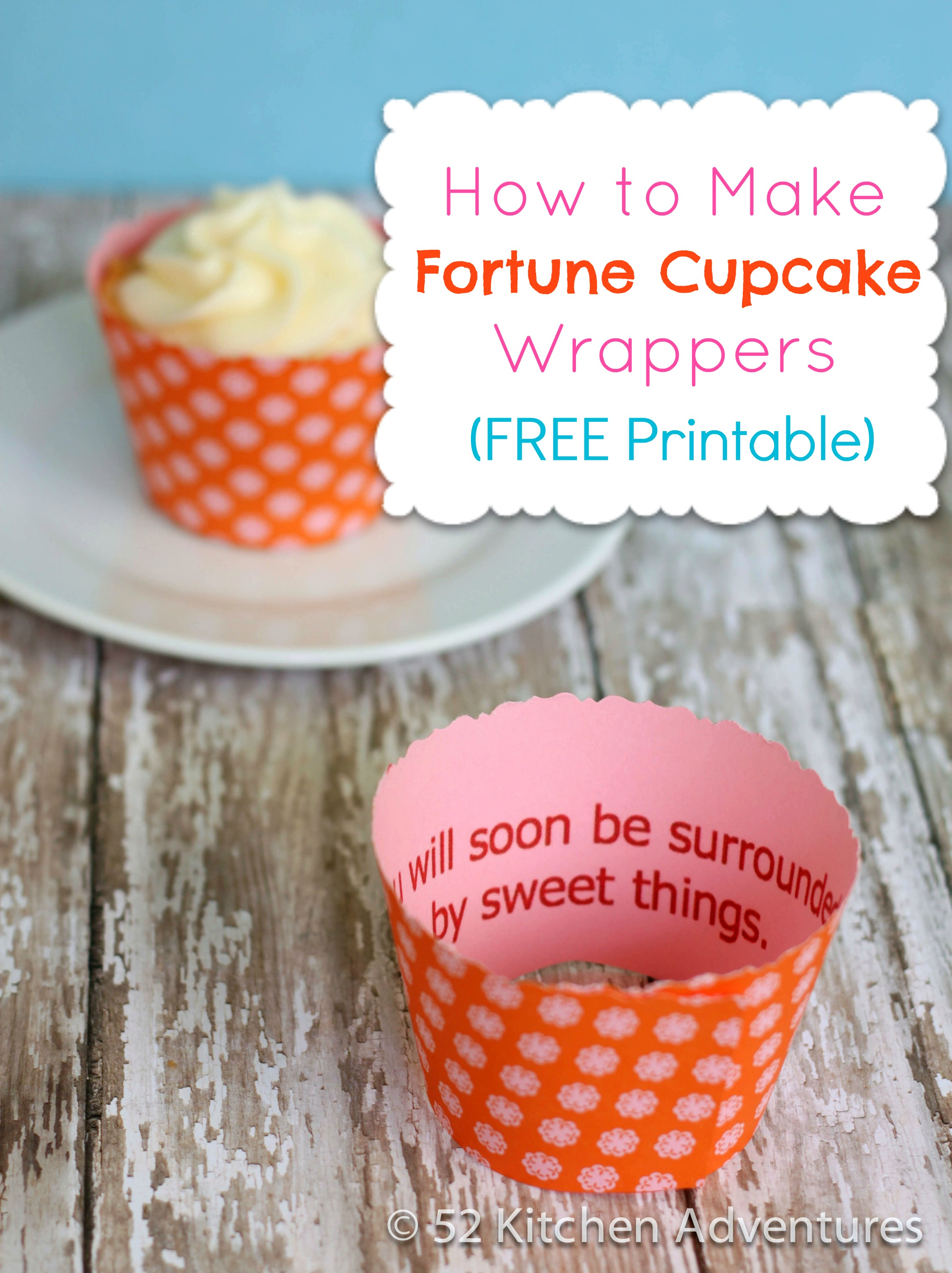 photograph about Free Printable Cupcake Wrappers identify How toward Crank out Fortune Cupcake Wrappers (No cost Printable!) 52