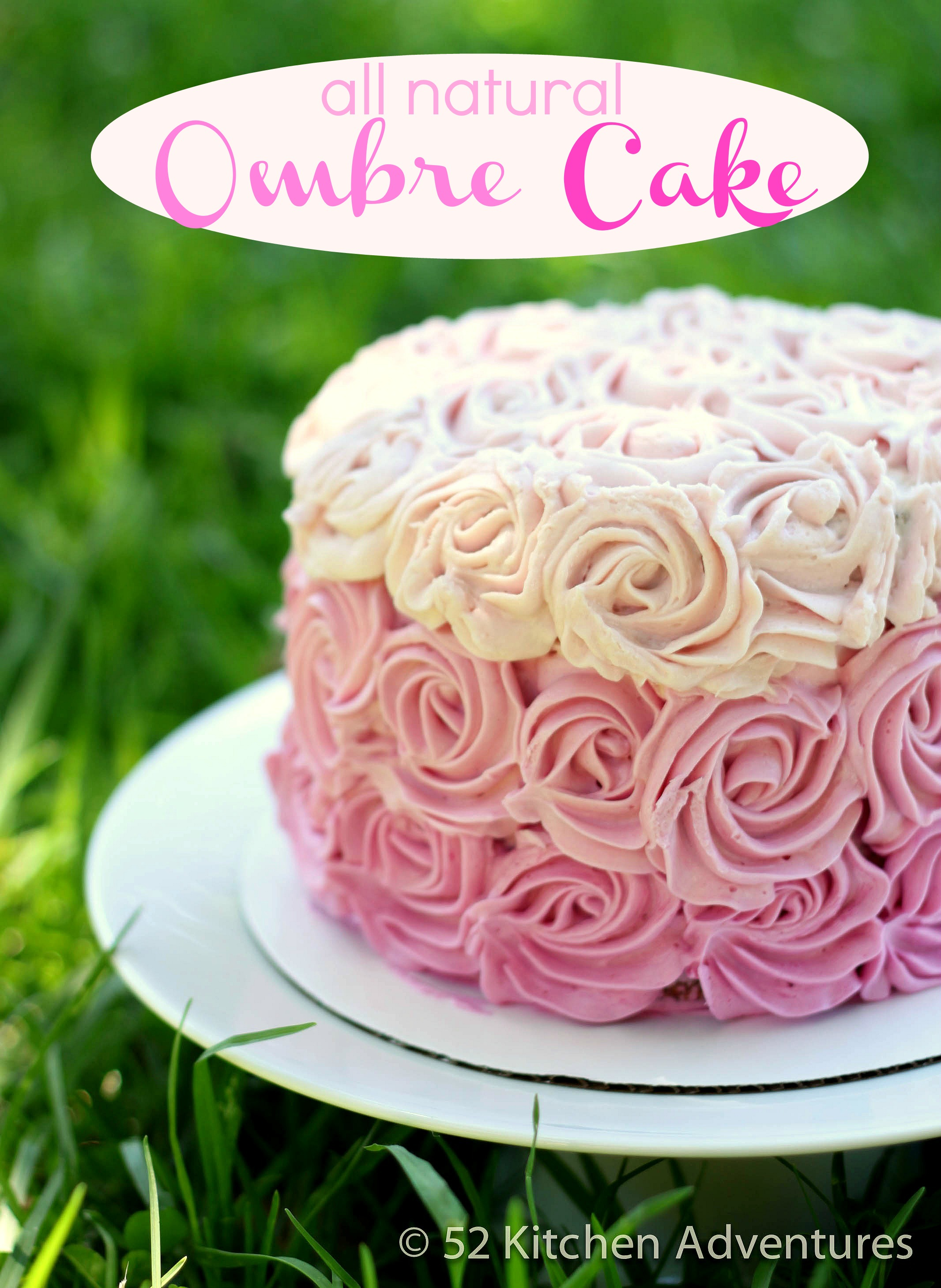 All Natural Ombre Rose Cake (no food coloring!) | 52 Kitchen ...