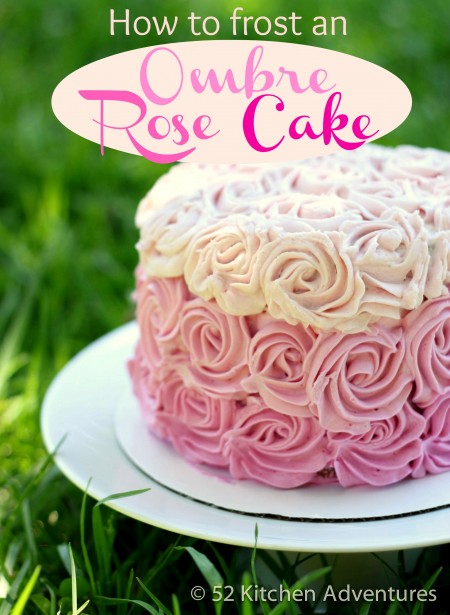 Cake Decorating 101: How to frost an Ombre rose cake