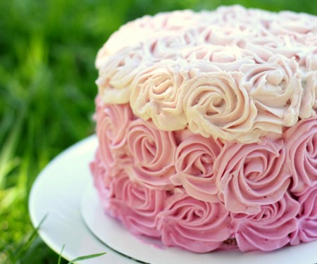 Ombre rose cake cropped
