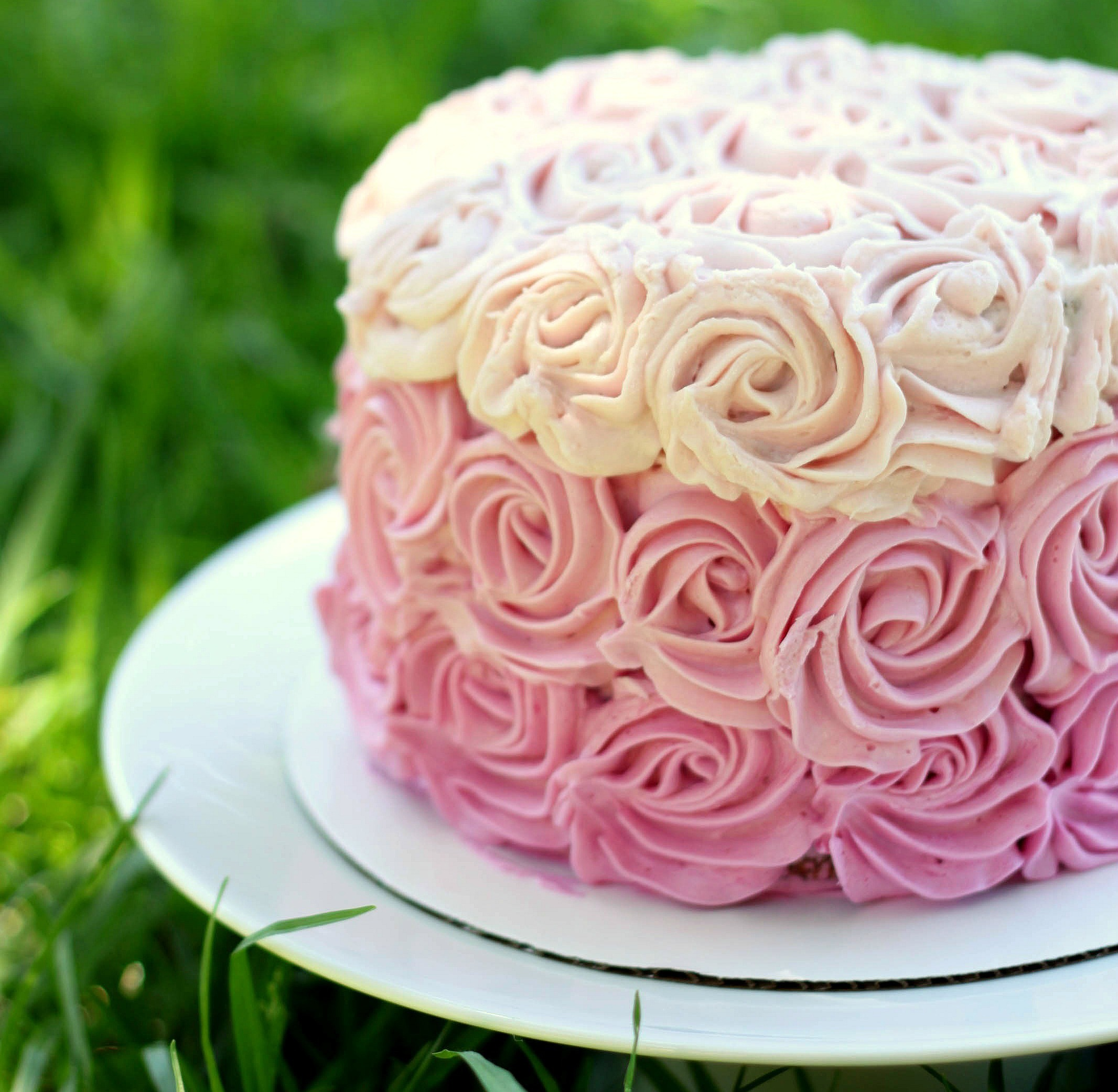 Images For Rose Cake : Ombre rose cake 52 Kitchen Adventures