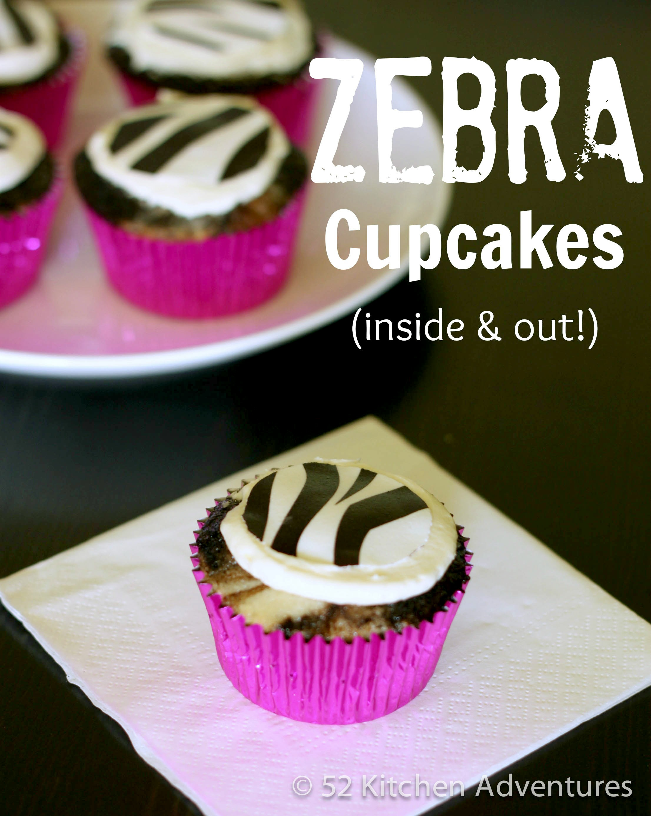 How to make zebra cupcakes (inside & out!)