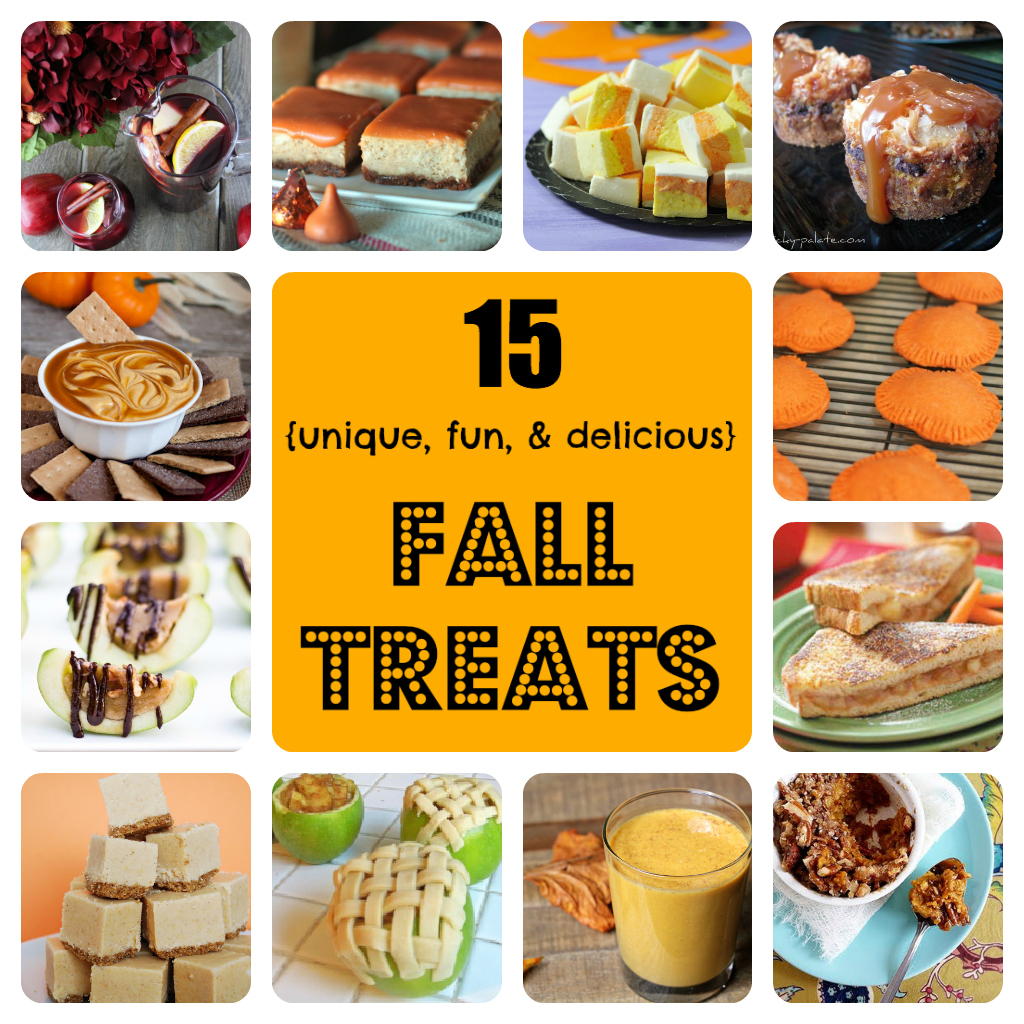 15 unique, fun, and delicious fall recipes