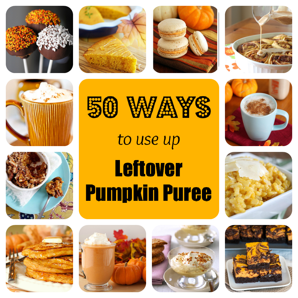 50 ways to use up leftover pumpkin puree
