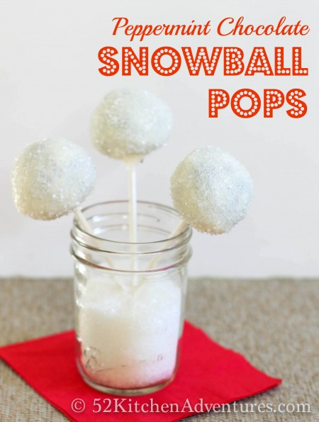 Recipe: Peppermint chocolate snowball pops