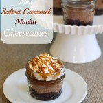 Mini Salted Caramel Mocha Cheesecakes – Live on TV!