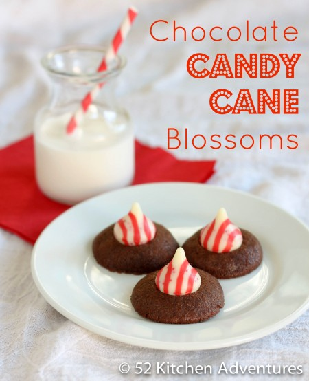 Recipe: Chocolate candy cane blossoms