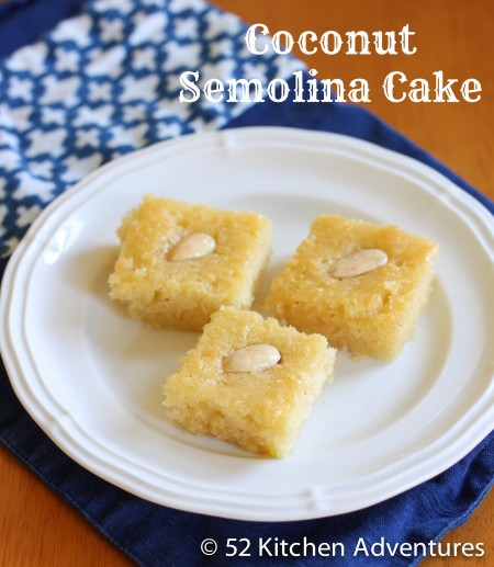 Recipe: Coconut semolina cake
