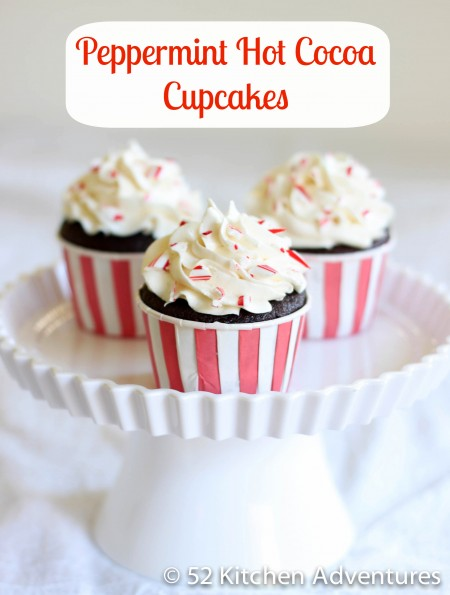 Recipe: Peppermint hot cocoa cupcakes