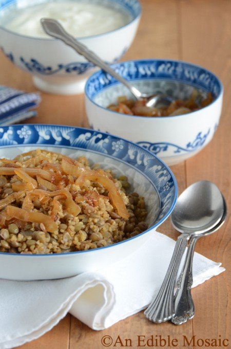 Recipe: Lentil and bulgur pilaf with caramelized onion
