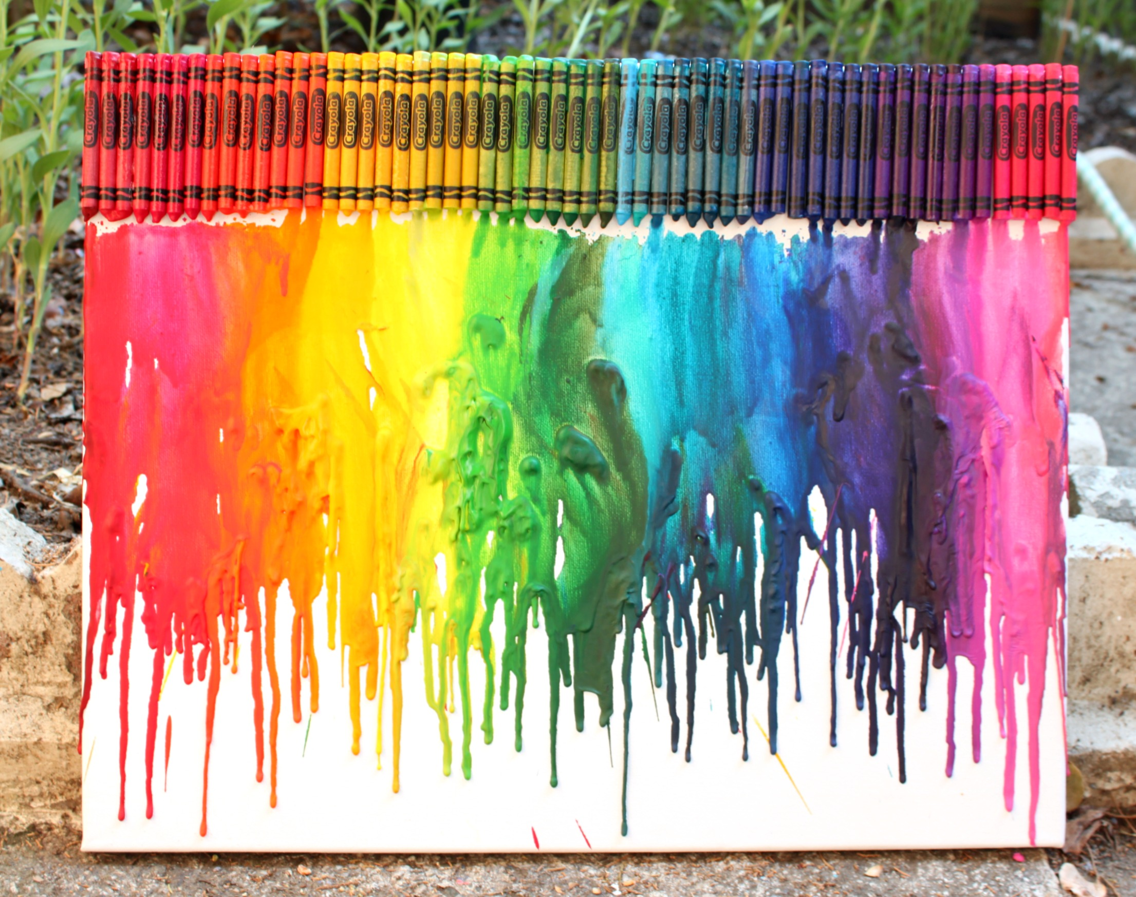 Melted Crayon Rainbow