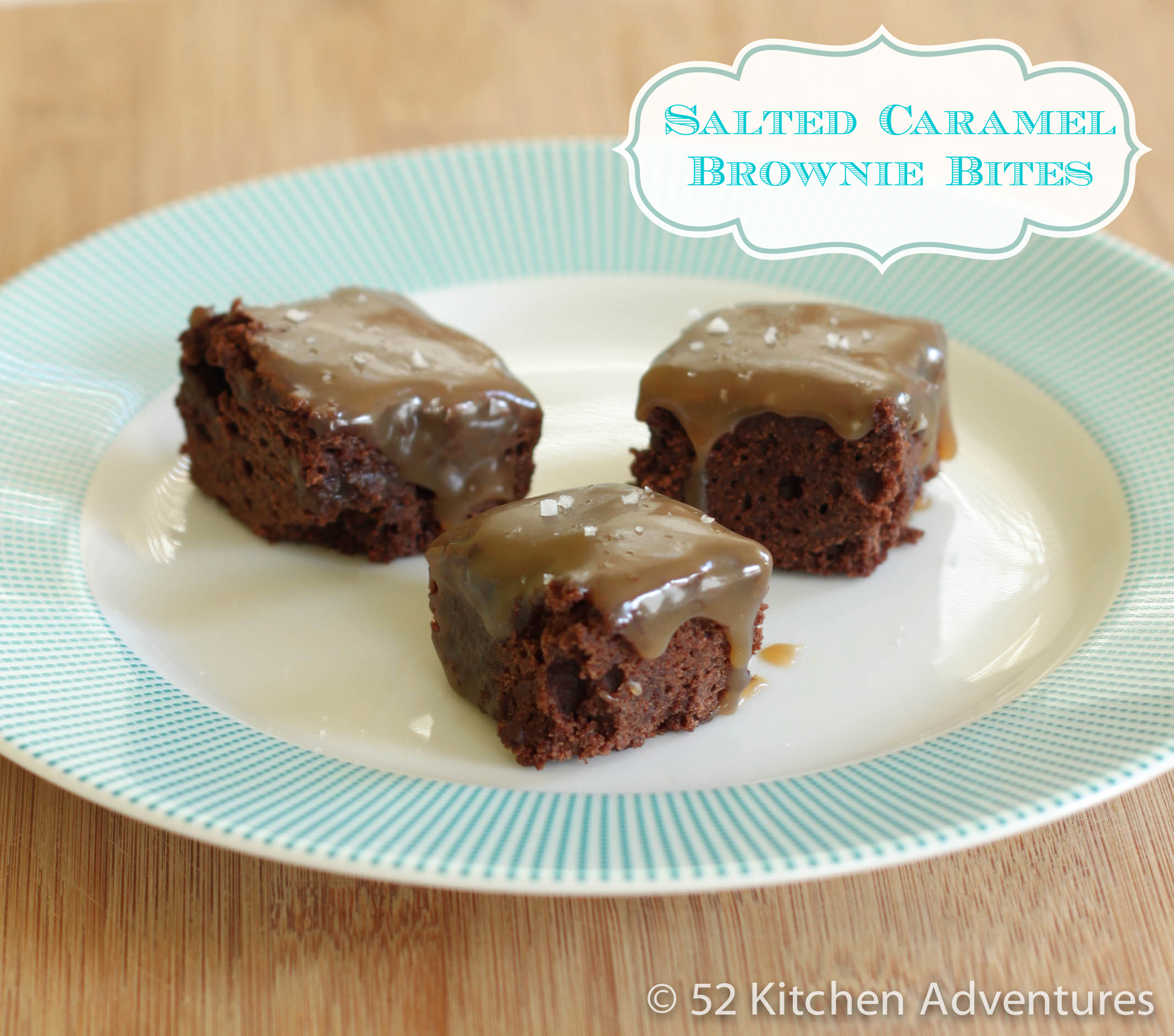 Recipe: Salted caramel brownie bites