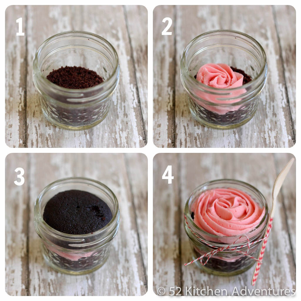 Create a cupcake in a jar