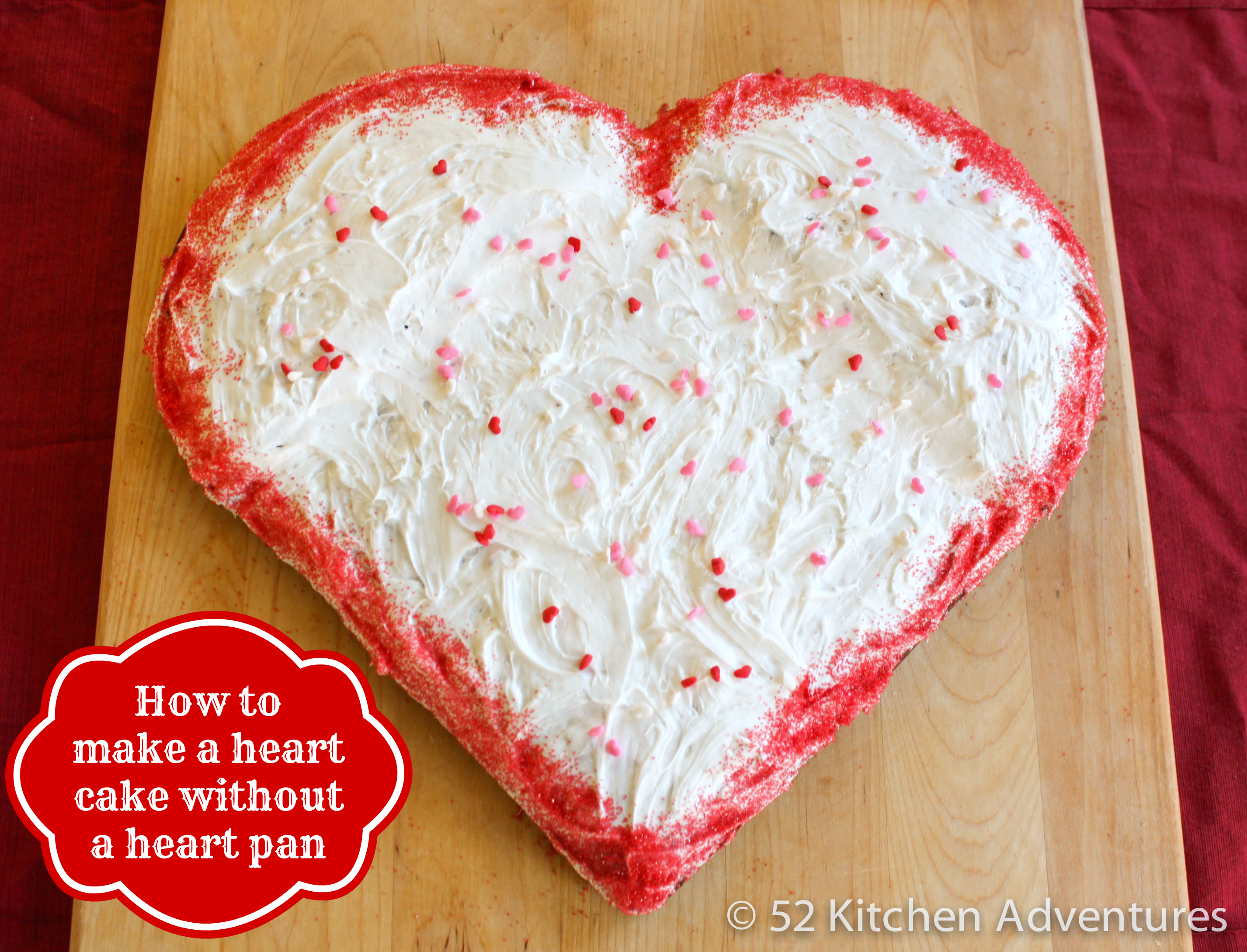 How to make a heart shaped cake without a heart pan