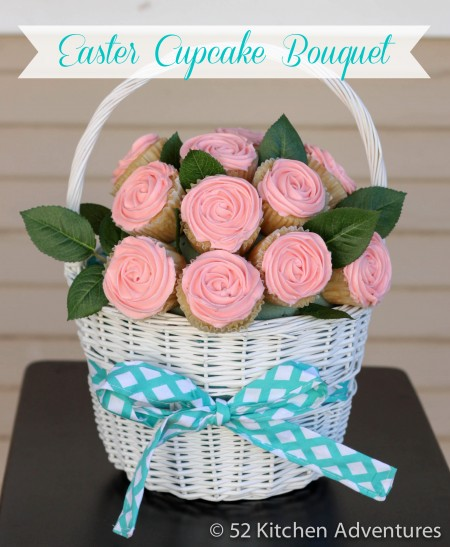 Easter Basket Cupcake Bouquet