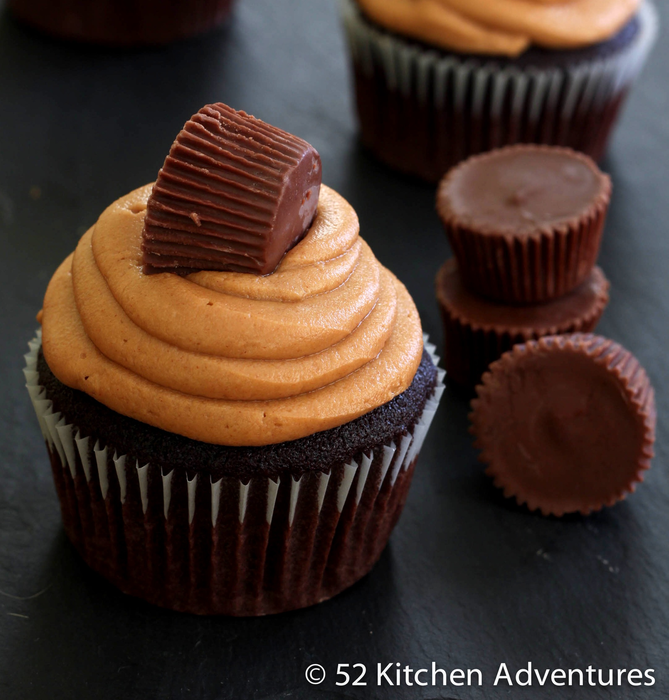 Peanut Butter Cup Cupcakes | 52 Kitchen Adventures