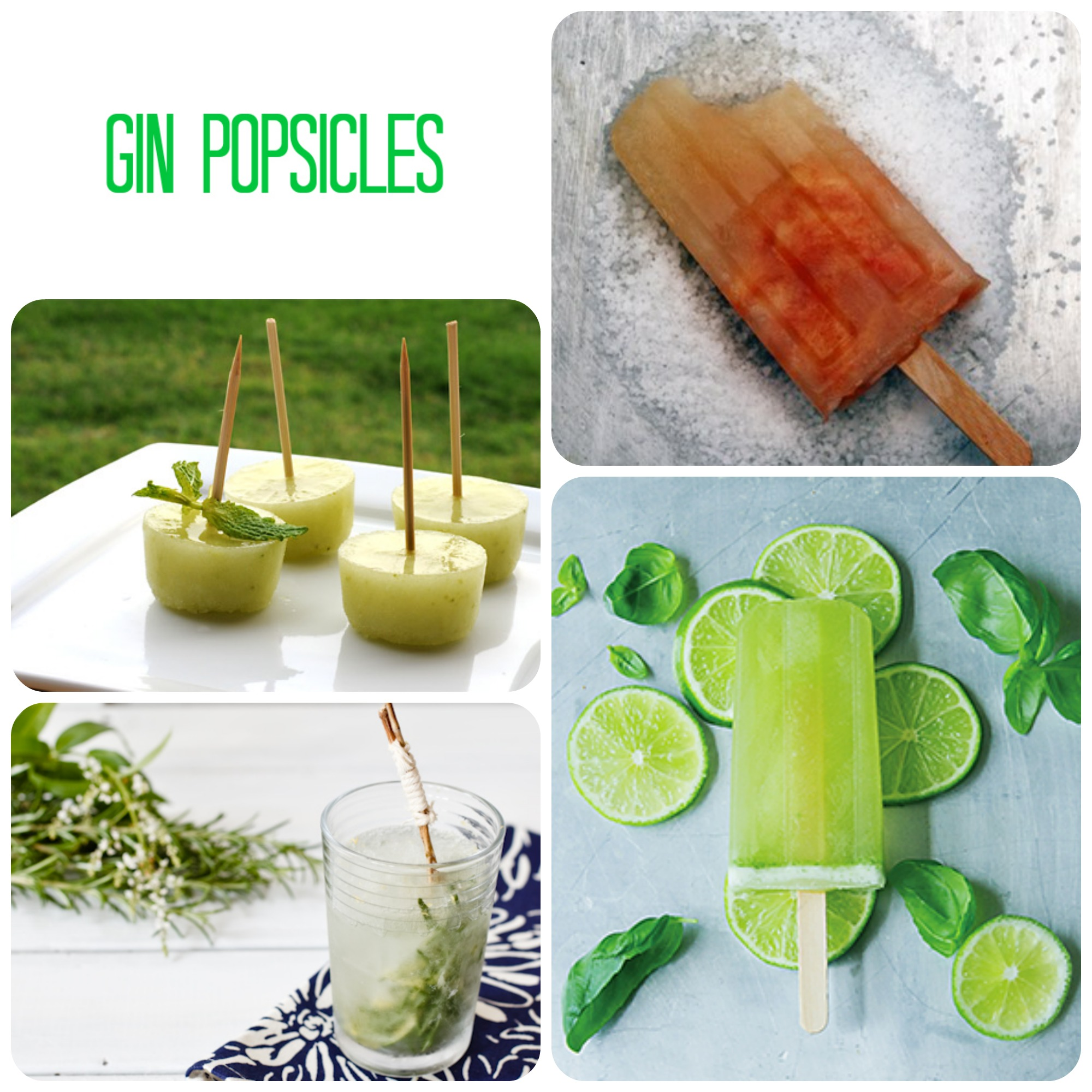 Gin Popsicles