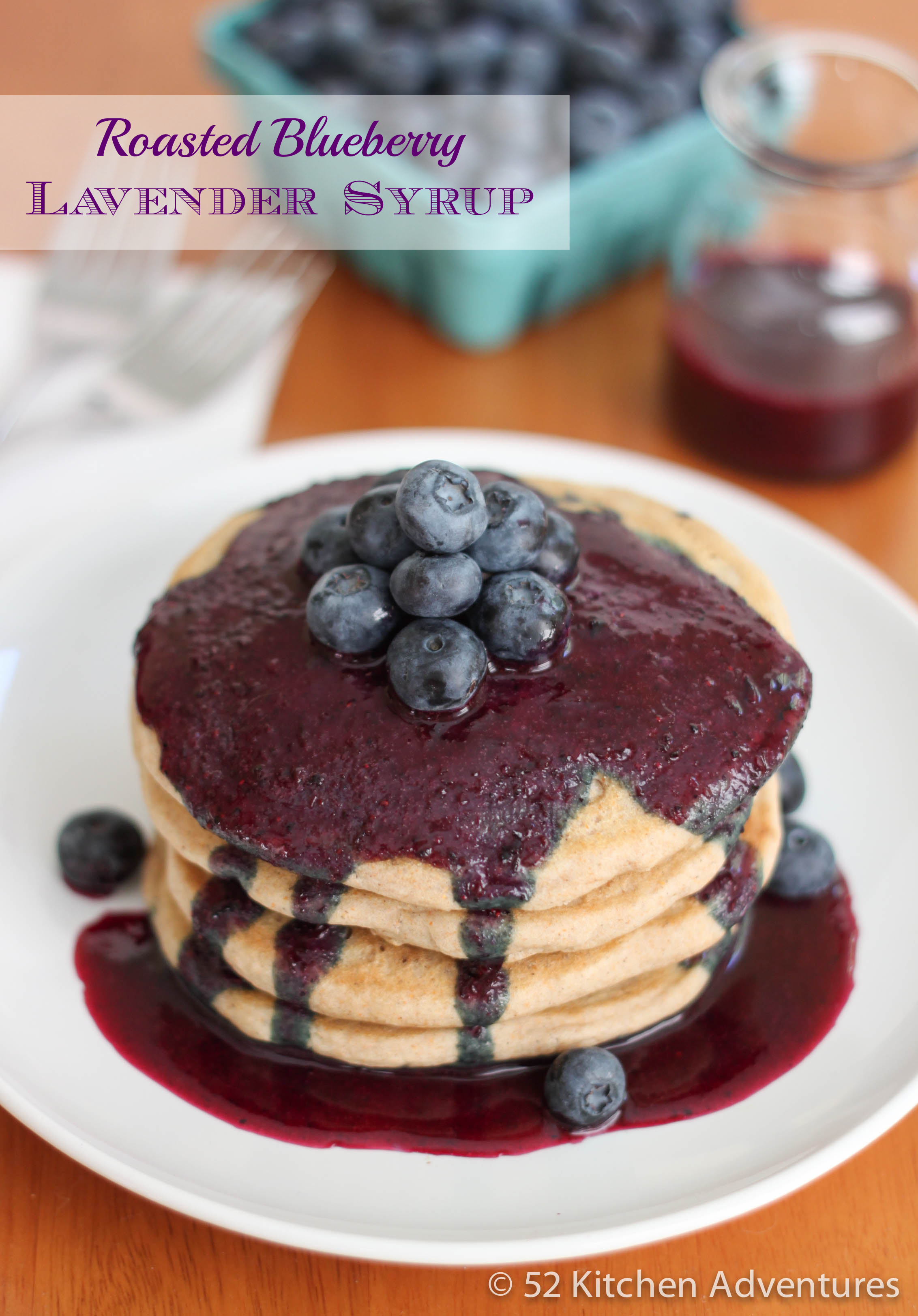 Roasted Blueberry Lavender Syrup